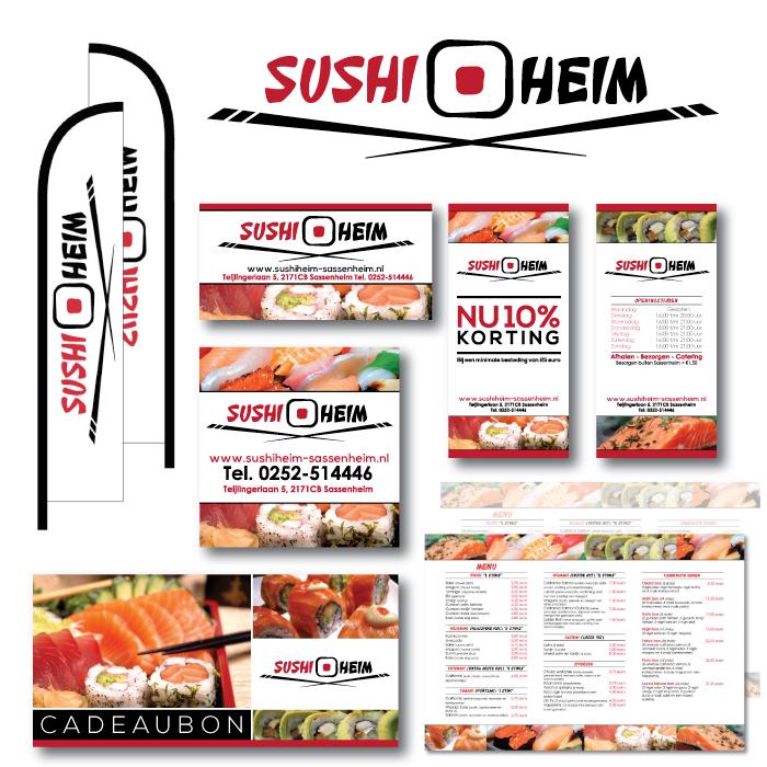 Huisstijl ontwerp sushi restaurant