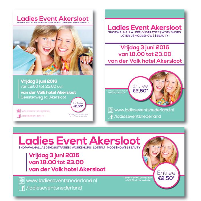 Huisstijl ontwerp Ladies event