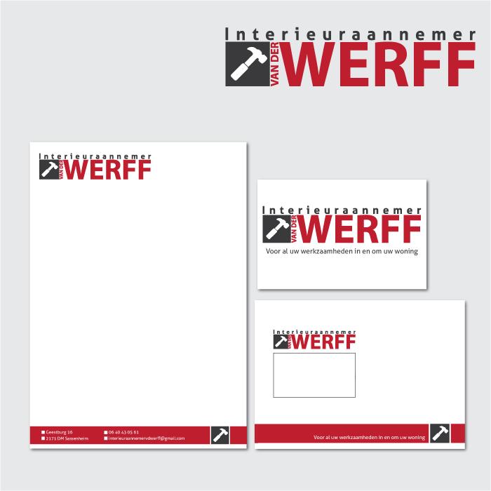 Huisstijl ontwerp aannemer vd Werff