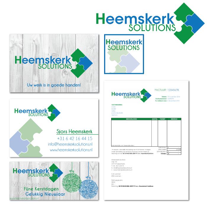 Huisstijl ontwerp Heemskerk Solutions