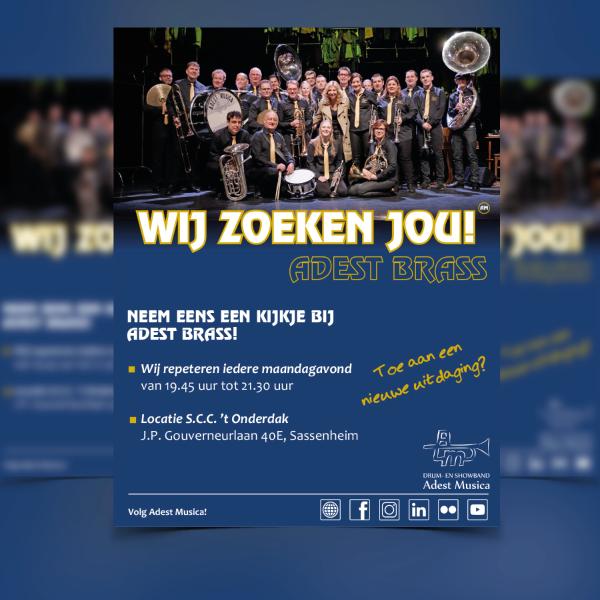 Flyer ontwerp Adest Musica