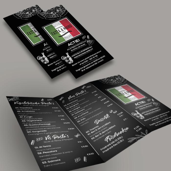 Folder ontwerp Pizzeria