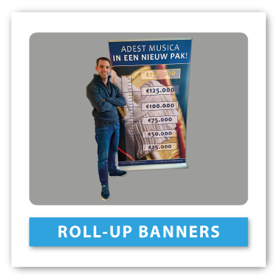 Knop-rollupbanner