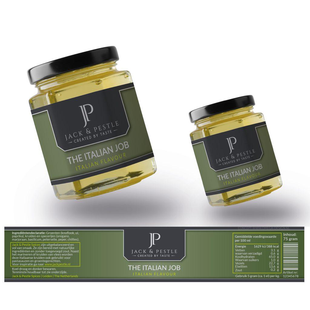 Label ontwerp Jack & Pestle