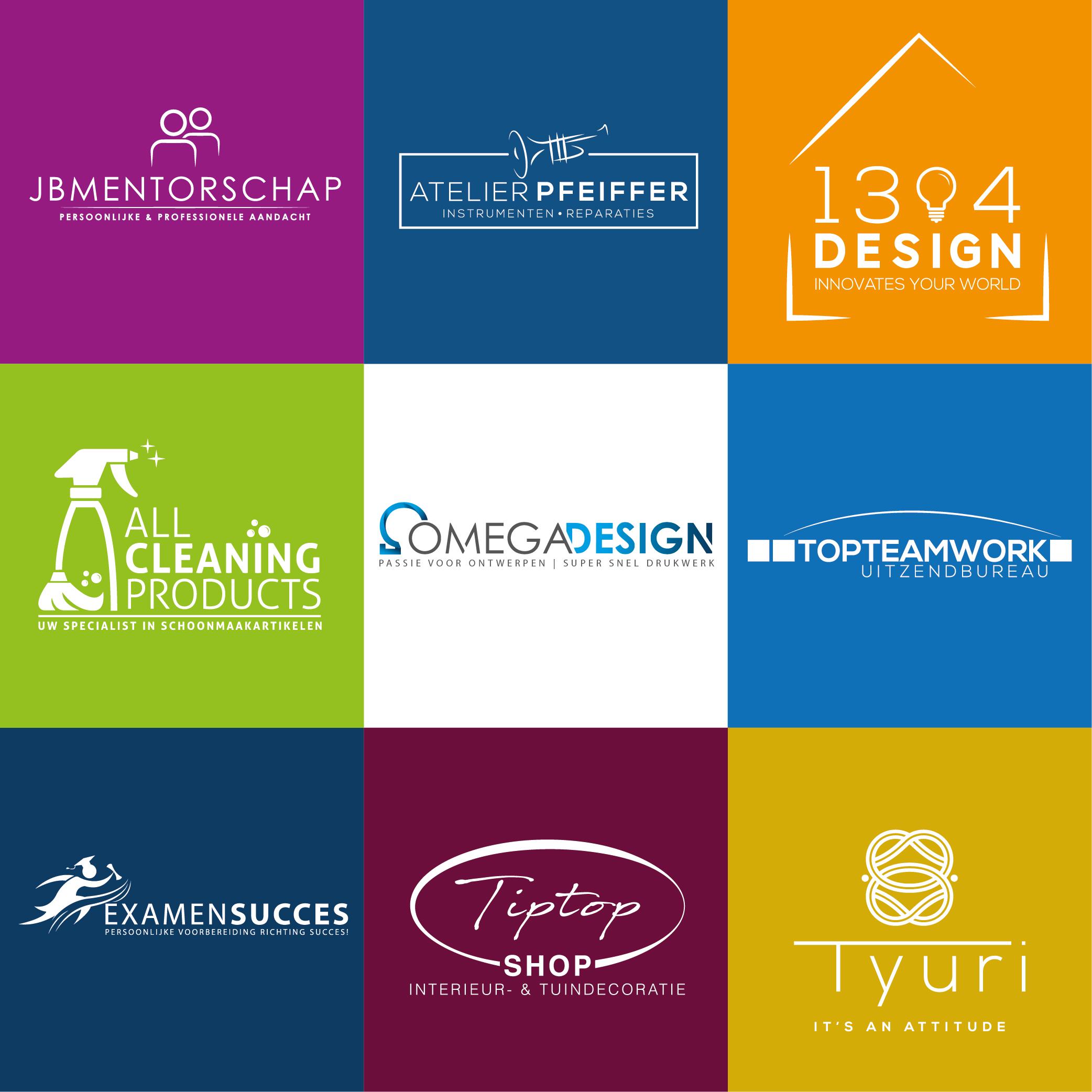 Verschillende logo ontwerpen