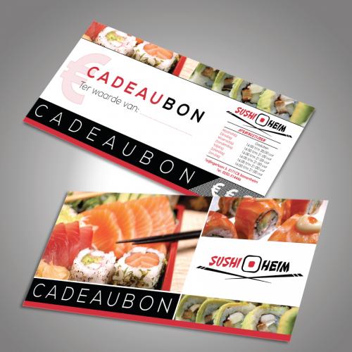 Cadeaubonnen ontwerp sushi restaurant