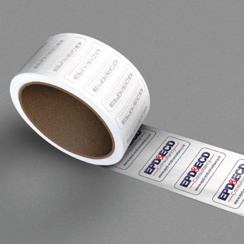 Stickers op rol